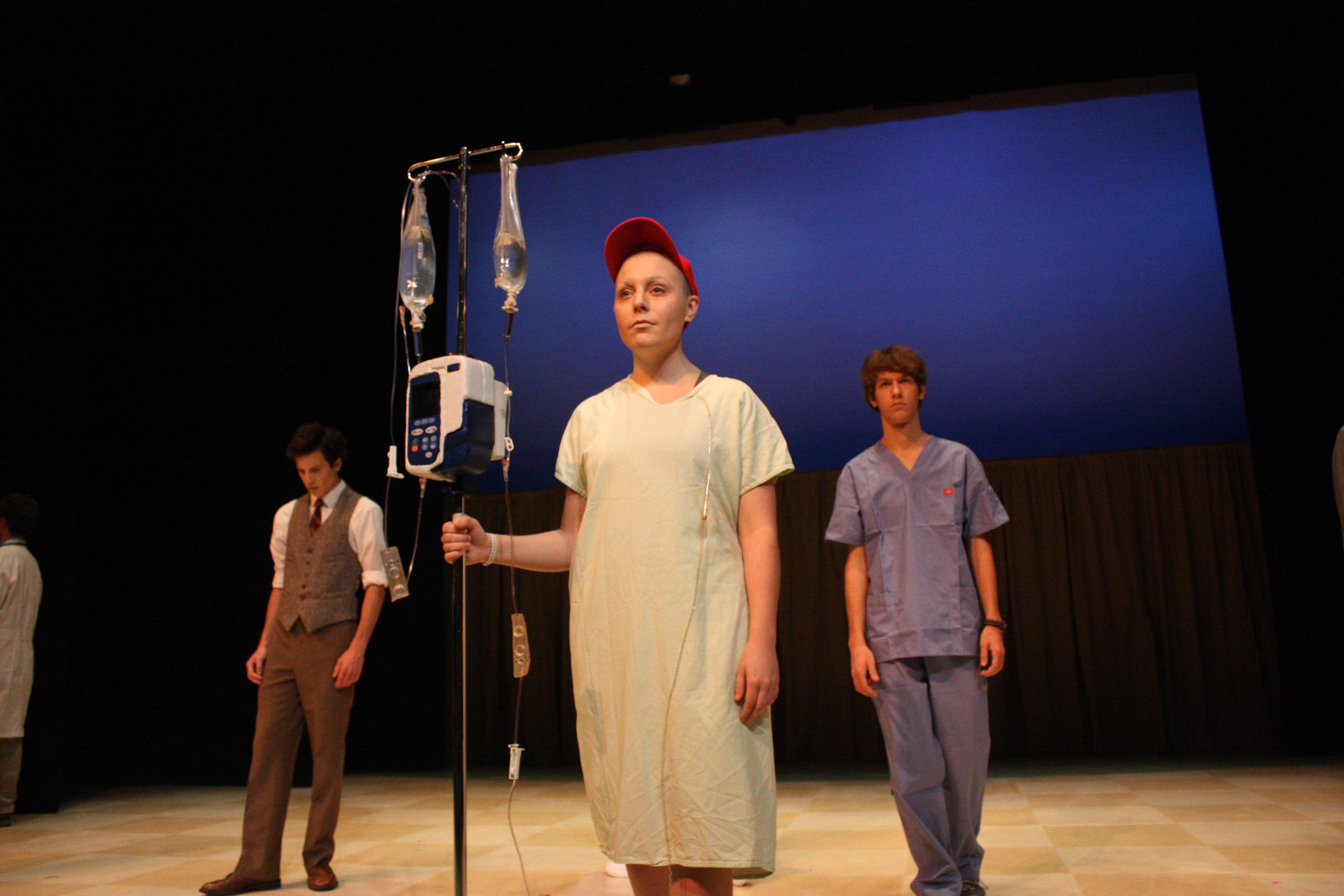 """Lauren Treiber as a poetry professor battling cancer in the play """"Wit"""""""