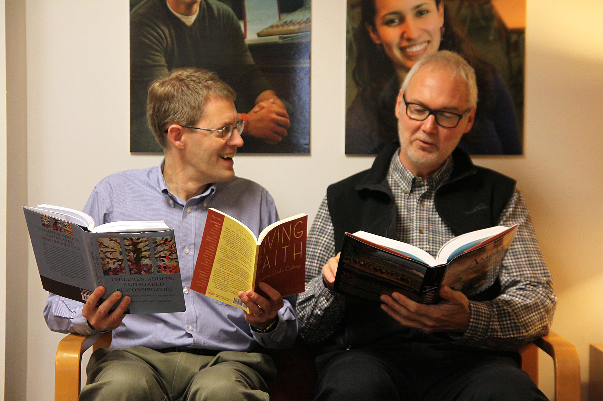 Steven Nolt and Keith Graber Miller read the books they have written and published