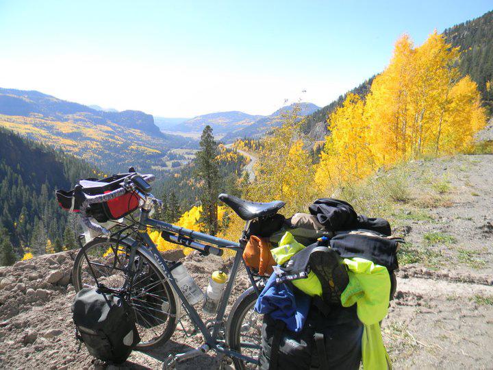 Mountain overlook with bike