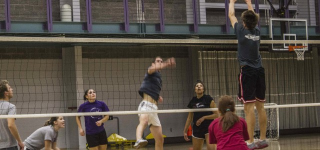 Intramural volleyball teams win