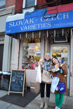 Michaela Krydova and Tiantian Chen spent the holidays in New York. Photo contributed by Michaela Krydova