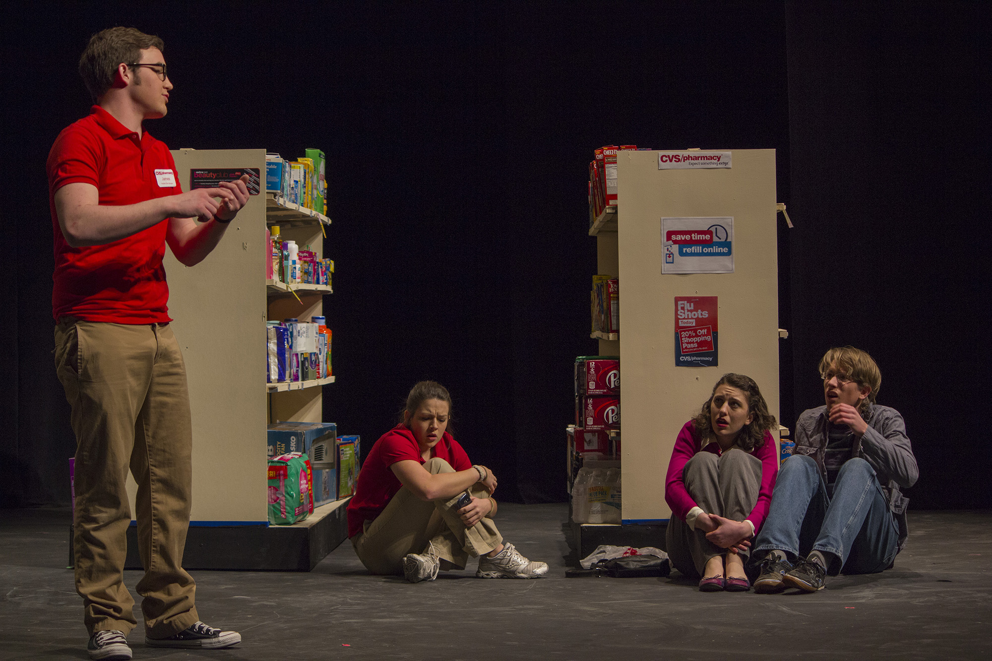 Students perform on umble stage