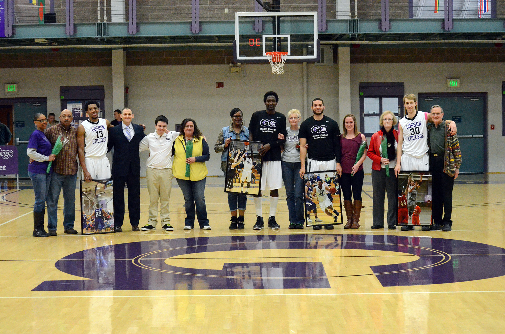 basketball players with parents