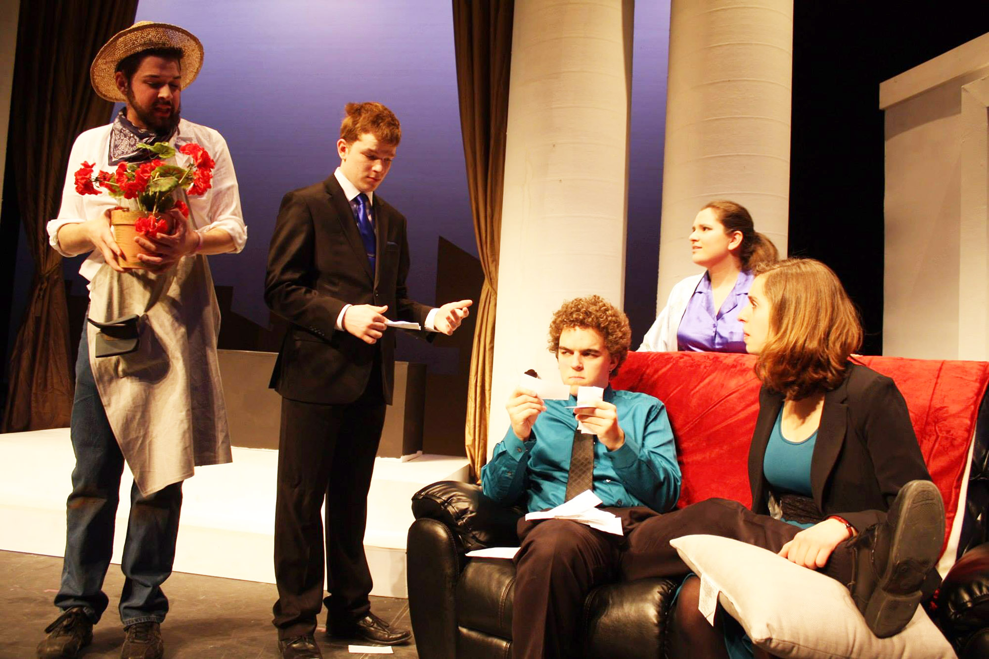 Students perform in production