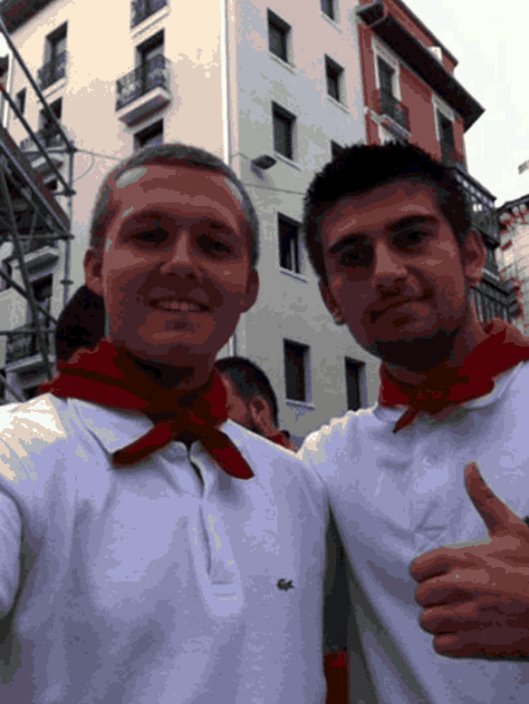 at the running of the bulls