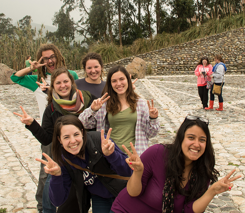 Students pose for photo in Quito