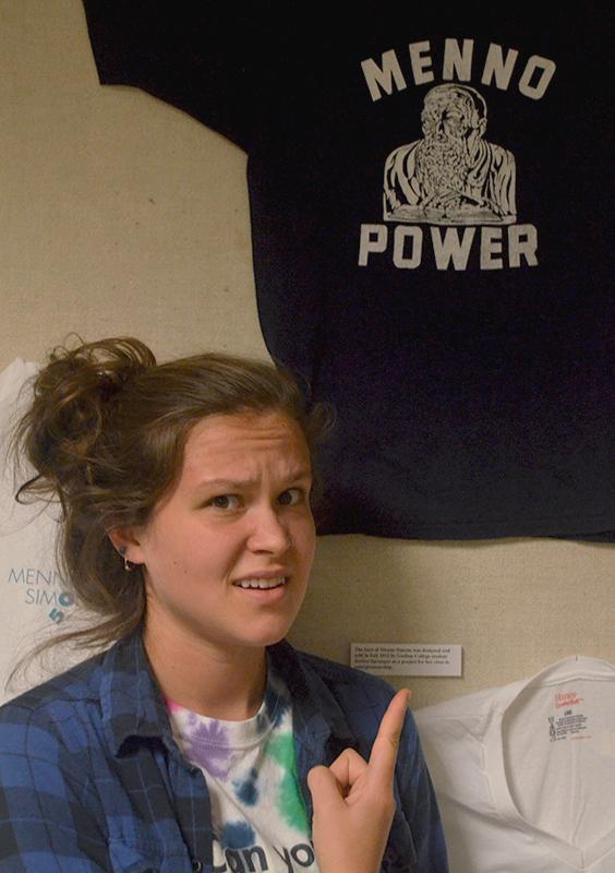 Sarah Hofkamp with menno power t-shirt