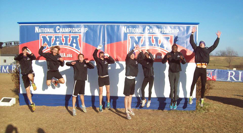 team photo at cross country nationals