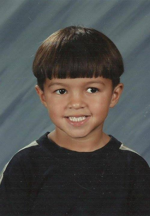 Portrait of of Carlson as a kid