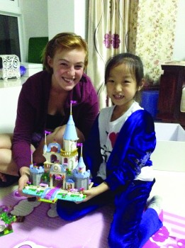 Ellen Conrad, sophomore, poses with her host sister during her SST experience in China this past fall.