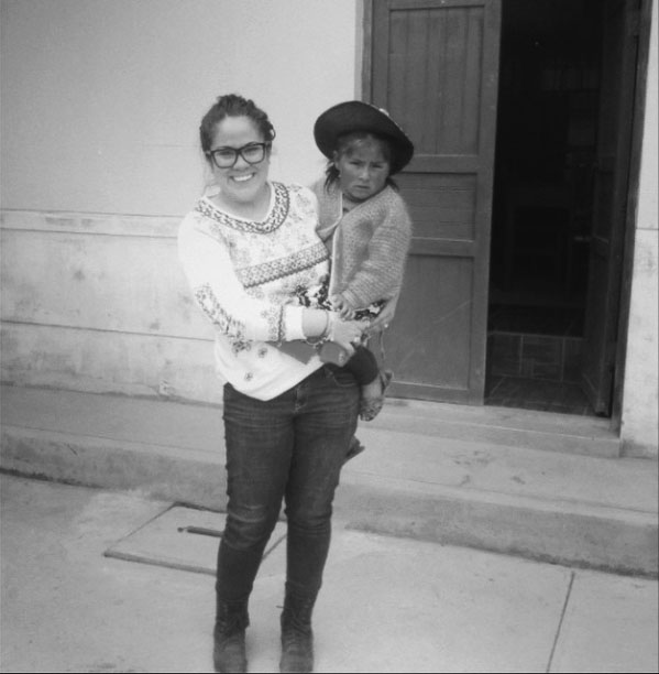 Frances Fonseca with sponsored child