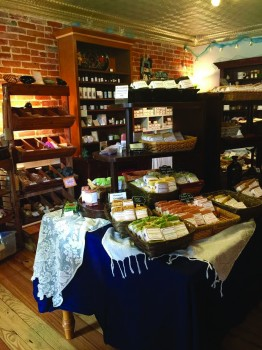 The Soapy Gnome Home Goods store is filled with an assortment of homemade soaps and body care products.
