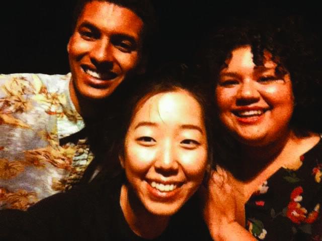 Malcolm Stovall, Dona Park, and Samantha Peña take a selfie together
