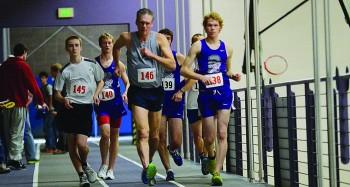 Seniors Mitchell Brickson, Kolton Nay, and Brad Sandlin compete at a home race walk meet last year.