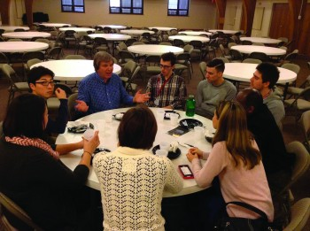 Students engage in discussion at this year's Intercollegiate Peace Fellowship Conference.