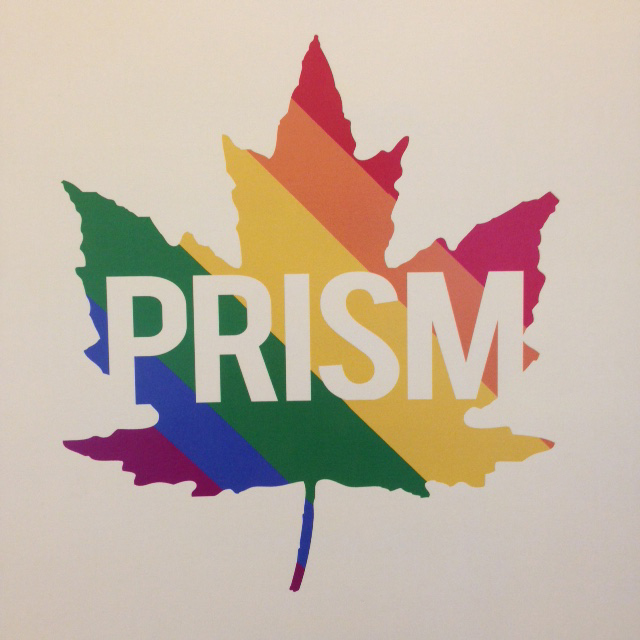 """Rainbow leaf with """"Prism"""" on top"""