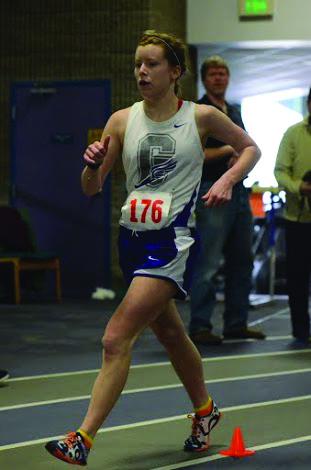 Kayla Gray competes in a race walk meet