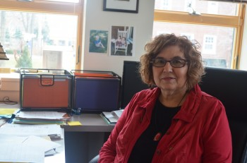 Anita Stalter poses in her office