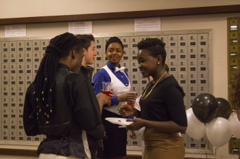 Students gather outside the Leaf Raker during the Black Student Union Gala last Saturday night.