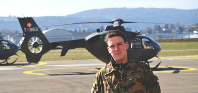GC welcomes student fresh out of Swiss Air Force