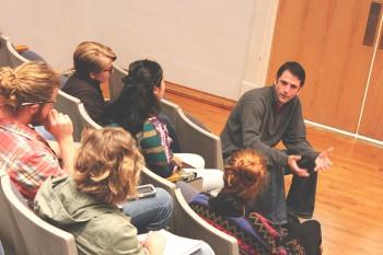 EcoPAX organized Food Week for the Goshen College community.  Photo by Marissa Hochstetler.