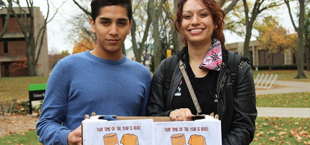 Latino Student Union food and clothing drive
