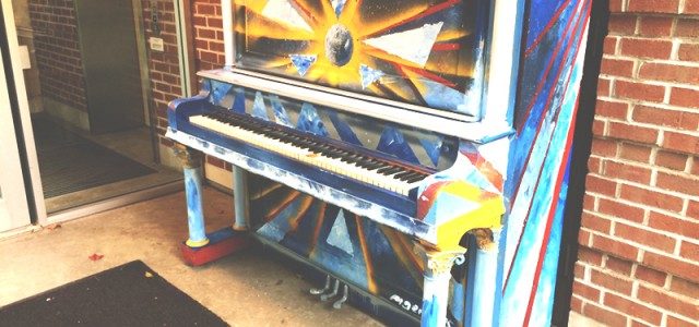 Painted piano brightens days