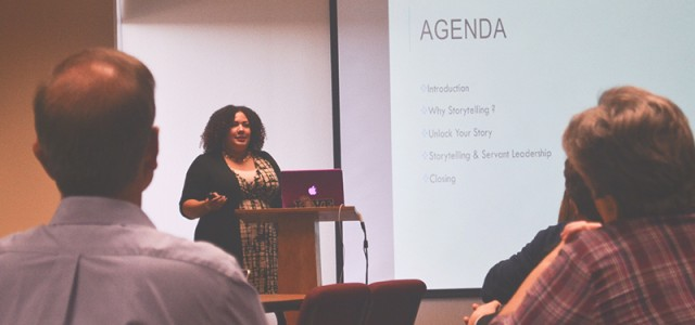 Faculty storytelling workshop teaches servant leadership