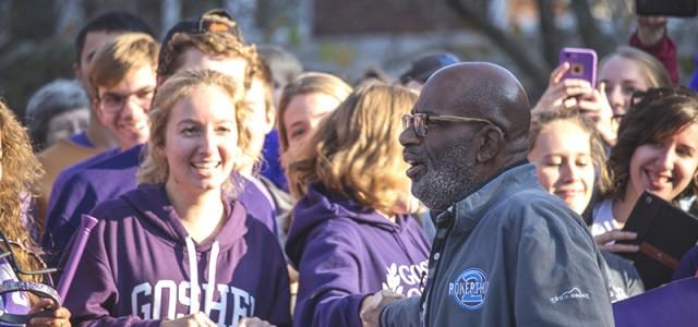 Al Roker visits Goshen College