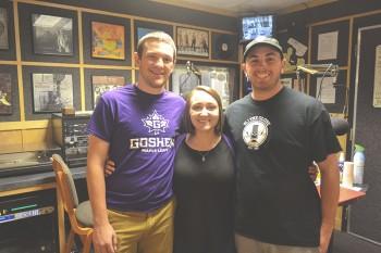 From left: Andrew Snyder, Danielle Kerschhackl, and Brad Stoltzfus. Photo by Marissa Hochstetler.