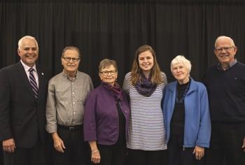 Emma Koop Liechty with her grandparents (from left) Russ Liechty, Marge Liechty, Shiela Koop and Henry Koop. Photo by Hannah Sauder.