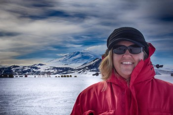 Kimber Beachy lives in Goshen for part of the year and works in Antarctica for the remaining months.  Photo by Hailaeos Troy.