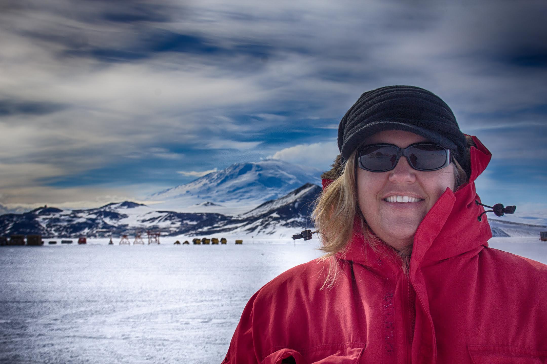 Kimberly Beachy in Antarctica