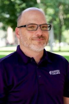 Chad Coleman  has worked at Goshen College in various residential roles since 2002, when he started as the Yoder Resident Director Photo provided by Goshen College
