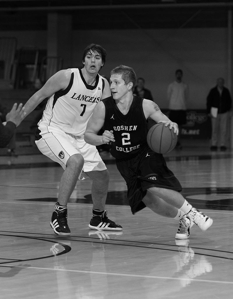 Kody Chandler dribbling basketball