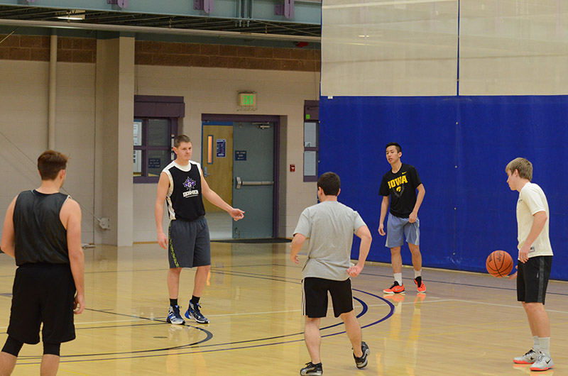 Basketball at practice