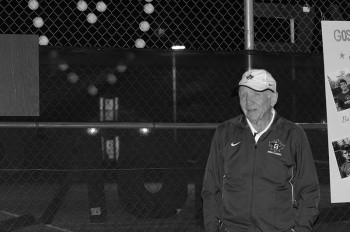 Stan King, the men's tennis coach, will be retiring after 17 years at Goshen College. Photo contributed by goleafs.net