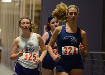 Abby Dunn, senior, was one of two Goshen College race walkers to be named an All-American last weekend. Photo by Maria Bischoff