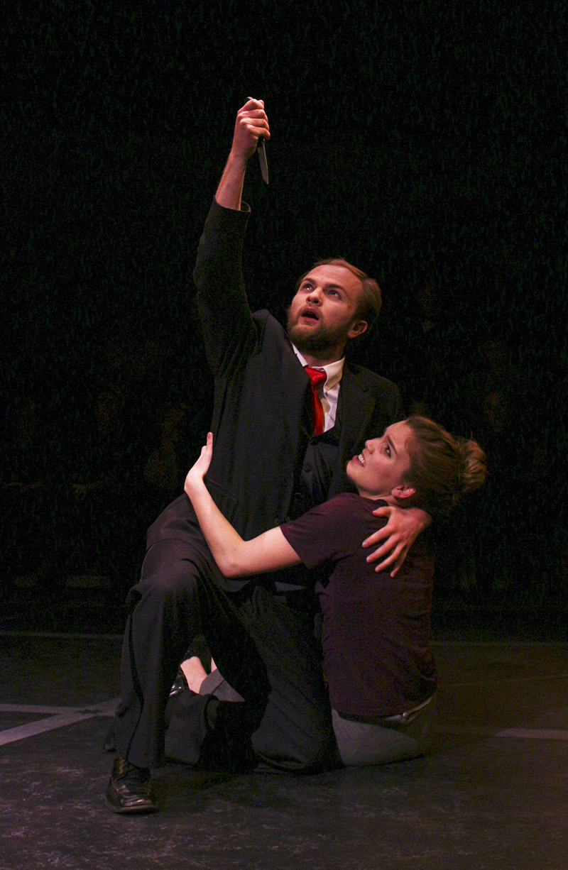 Students performing in Umble center