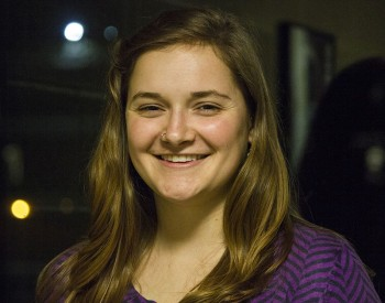 Elizabeth Franks-North, senior, talks about respect towards the professors. Photo by Hannah Sauder