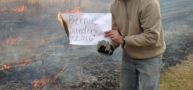 Ryan Sensenig burns prairies for Bernie