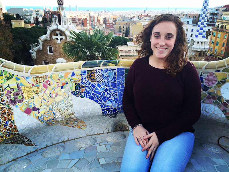 Maddie Birky in Barcelona Spain