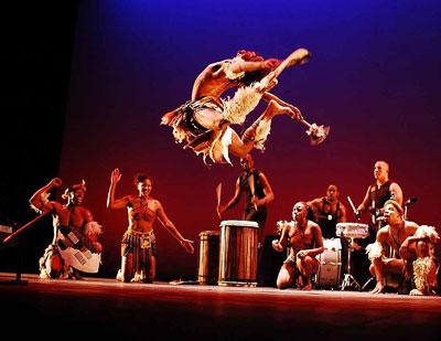 Step Afrika performing in sauder