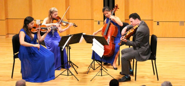 Award-winning string quartet performs