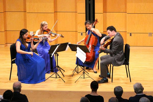 Ulysses Quartet performing in Sauder