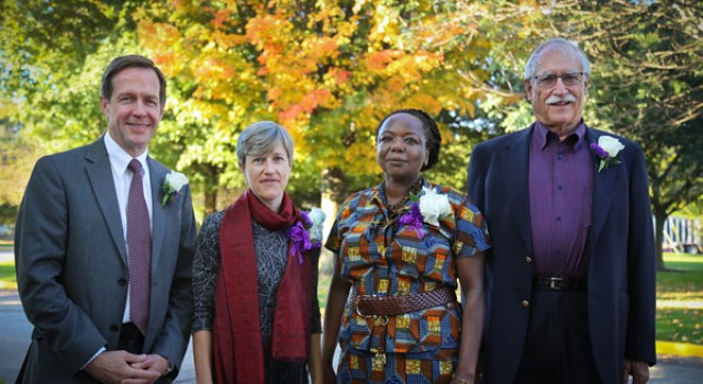 Four alumni receive awards at homecoming