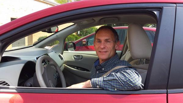 Duane in his car
