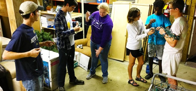Service club volunteers at the ReStore