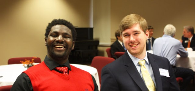 Senior business majors present capstone projects to nonprofits