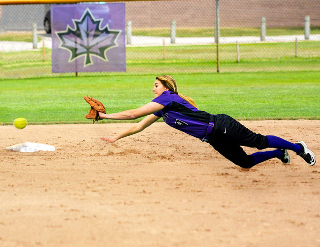 Sutliff dives for softball